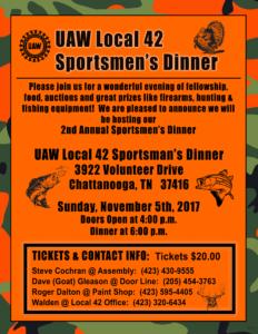 UAW Local 42 Sportsmens Dinner 09082017